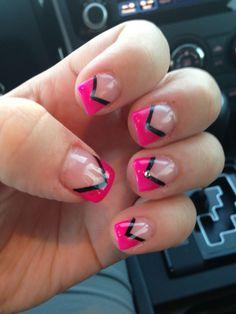 Nails French Tip Pink 50 Ideas French Tip Nail Designs, Blue Nail Designs, Nail Polish Designs, Nails Design, Summer French Nails, French Tip Nails, Silver Nails, Pink Nails, Short Square Nails
