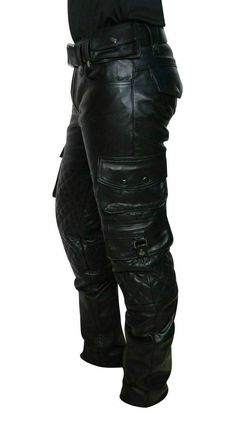 Biker Wear, Biker Pants, Cargo Pants, Motorcycle Pants, Jeans Pants, Mens Leather Pants, Cow Leather, Real Leather, Leather Kilt