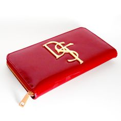 DST Delta Sigma Theta Ruby Red Patent Wallet – 1-800-LOVE-DST