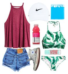 """Day 3: Disney waterparks and sunburns"" by fandombreather ❤ liked on Polyvore featuring H&M, NIKE, Converse and Maybelline Outfits For Disney, Outfits For Summer, Short Outfits, Vacation Outfits, Summer Wear, Summer Clothes, Outfits For Teens, Fall Outfits, Casual Outfits"