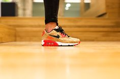 NIKE AIR MAX 90 25TH ANNIVERSARY 'CORK INFRARED' BRONZE/BLACK-INFRARED-WHITE available at www.tint-footwear.com/nike-air-max-90-25th-anniversary-cork-infrared nike air max 90 infrared cork 25th anniversary sneakers sneaker kicks tint footwear studio munich münchen