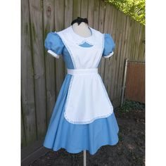 Adult Alice in Wonderland Costume for Halloween or Cosplay ($165) ❤ liked on Polyvore featuring costumes, cosplay, costume, dresses, lolita, alice costume, womens halloween costumes, women's plus size halloween costumes, adult costume and elephant costume
