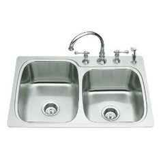 KOHLER K-3372-1-NA Verse Large/Medium Self-Rimming Kitchen Sink (Tools  Home Improvement)  gift.skincaree.co...  B000MIU7BW sinks