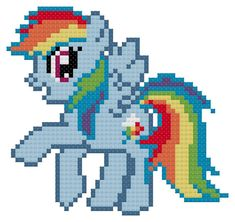 Which of the ponies from My Little Pony : Friendship is Magic is your favorite? How about Rainbow Dash! Includes a DMC color chart, and a black and white symbol pattern in an easy to read and printable PDF file. PDF files can be read on Adobe, which the Adobe Reader can be downloaded for