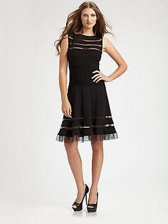 Tadashi Shoji Flounce Skirt Dress -...     $198.00