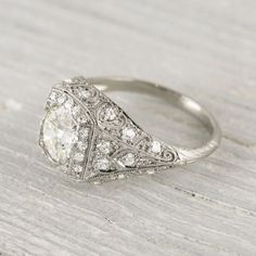 Oh my goodnessssss <3 1.25 Carat Vintage Edwardian Engagement Ring | Vintage & Antique Engagement Rings | Erstwhile Jewelry Co NY
