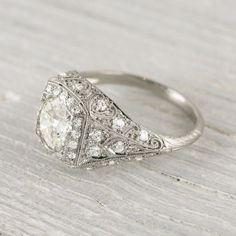 Vintage 1.25 Carat Edwardian Engagement Ring Circa 1910
