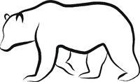 Bear Outline Sticker