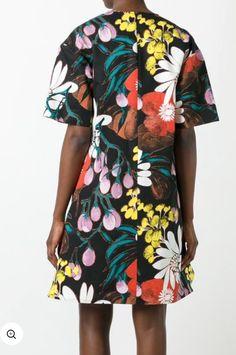 Beautiful fashion floral print made into a shift dress