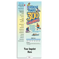 Exercise Away 300 Calories Slideguide With Personalization  Item # 813-SL