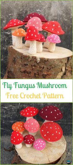Crochet Fly Fungus Mushroom Amigurumi Free Pattern - Amigurumi Crochet Mushroom Softies Free Patterns