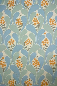 Vintage Funky Wallpaper with superb abstract geometric pattern. Fabulous vintage…