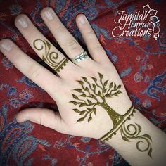 Tree of life simple henna www.jamilahhennacreations.com