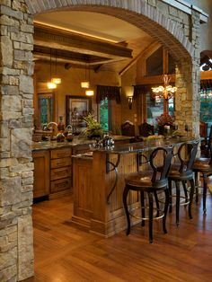 9 Simplest Ways to Build Rustic Tuscan Kitchen Design The abundant, warm colors as well as structures of Tuscany, Italy's farming area, are one of one of the most popular versions of the Home Country home design. Cabin Homes, Log Homes, Custom Home Builders, Custom Homes, Tuscan House, Mediterranean Decor, Tuscan Decorating, Rustic Kitchen, Stone Kitchen