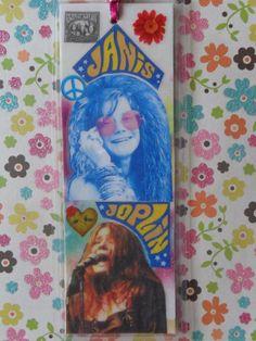 Janis Joplin Handmade Collage Bookmark by Pepperland on Etsy, $10.00