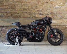 PHANTOM 48    custom Sportster Forty Eight by @bubble_visor ⚡️at Warr's Harley-Davidson London With custom @vanceandhines XR Competition Race Mufflers & @rolandsands Hutch wheels in Black Ops