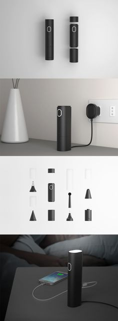 The 'Troval' system eliminates the need for traveling with multiple, cumbersome devices so you can pack lighter and more efficiently, it includes a modular array of interchangeable heads ranging from shavers to toothbrushes... READ MORE at Yanko Design !