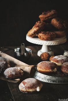 Irish Cream Filled Doughnuts