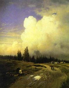 Fyodor Vasilyev(Фёдор Александрович Васильев) (1850-1873) . after a thunderstorm