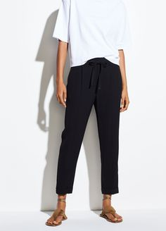 03946a16c Side Strap Jogger for Women | Vince Joggers Womens, Welt Pocket, Spring  Outfits,