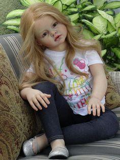 CAROL Reborn by Ruth Aguilar Le Ruban Rose Nursery Angelica Kit, Sculpted by Reva Schickt tat Newborn Baby Dolls, Cute Baby Dolls, Baby Girl Dolls, Child Doll, Reborn Child, Reborn Toddler Girl, Reborn Babies, Reborn Dolls Silicone, Baby Doll Nursery