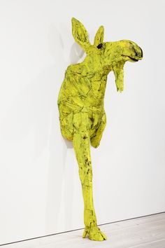 Yellow hallucination, painted wood, 225 x 75 cm, 2011