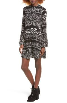 As U Wish Floral Print Swing Dress available at #Nordstrom