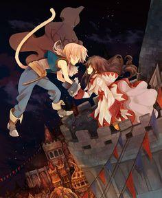 Final Fantasy IX Zidane and Garnet Final Fantasy Xiv, Final Fantasy Artwork, Final Fantasy Characters, Fantasy Rpg, Fantasy World, Manga Couples, Funny Tattoos, Anime Artwork, Game Art