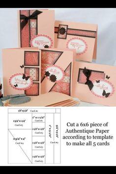 Jill Jacobsen - Florida - One Sheet Wonder Paper Cards, Folded Cards, One Sheet Wonder, Card Making Tips, Card Patterns, Card Tutorials, Card Sketches, Creative Cards, Cute Cards