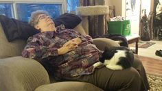 My Mother in law, Hope Booker and Lola Mae, napping.