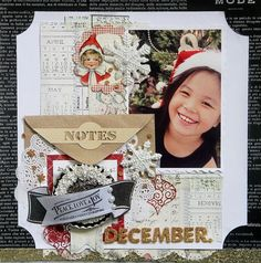Scrapbook page mixing retro themes from Melissa Frances design team