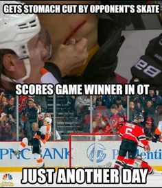 And that, my friend, is why hockey is better than any other sport than you do!