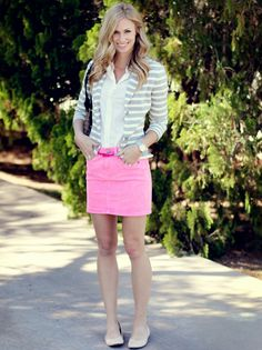 Pink jean skirt – Fashionable skirts 2017 photo blog