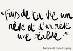 Antoine de Saint-Exupery Romantic Love Quotes, Self Love Quotes, Love Quotes For Him, Words Quotes, Mantra, Positive Quotes For Life, Life Quotes, Attitude Positive, Quotes Francais