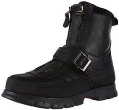 Polo Ralph Lauren Men's Kilnwick Boot,Black/Black,13 D US  $149.00