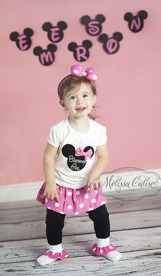 Melissa Calise Photography (2nd Birthday Minnie Mouse Photoshoot Ideas Girl)