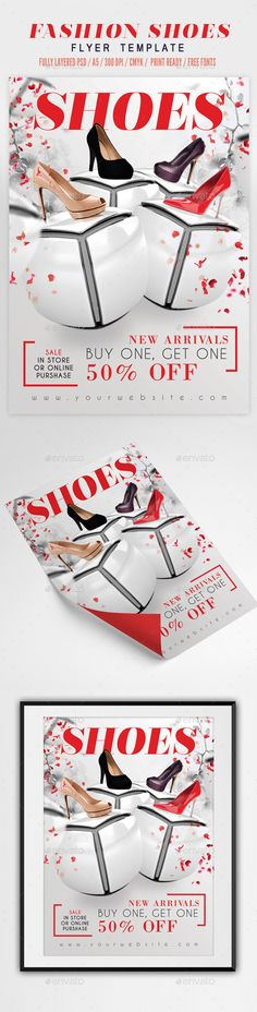 Fashion Shoes Flyer Template — Photoshop PSD #trending #shoes • Available here → https://graphicriver.net/item/fashion-shoes-flyer-template-/11621884?ref=pxcr