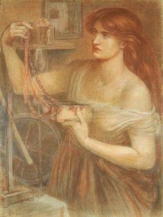 Gretchen Discovers the Jewels by Dante Gabriel Rossetti, 1868