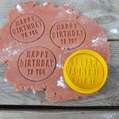 Happy Birthday Embosser Stamp happy birthday cookie cutter | Etsy Number Cookie Cutters, Cookie Cutter Set, Custom Cookie Cutters, Custom Cookies, Happy Birthday Cookie, Birthday Cookies, Personalized Cookies, Personalized Items, Logo Cookies