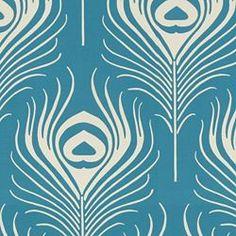 PLUME - PEACOCK. Image: Calico Corners. #fabric #Thomas_Paul #aqua
