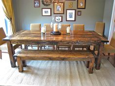 diy farmhouse dining room centerpieces | How to Make a DIY Farmhouse Dining Room Table: Restoration Hardware ...