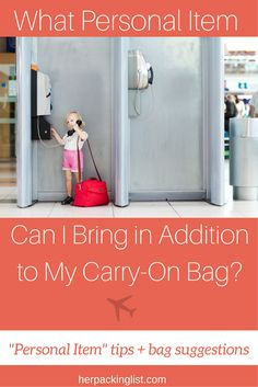 Most airlines allow for one carry-on plus a personal item in the cabin. Are you bringing the right personal item? More personal item tips in this article. #herpackinglist