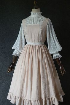 Old Fashion Dresses, Old Dresses, Vintage Dresses, Vintage Outfits, Fashion Outfits, Kawaii Fashion, Lolita Fashion, Cute Fashion, Pretty Outfits