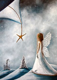 Limited Edition Canvas Print Snow Angel Fairy by shawnaerback
