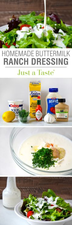Homemade Buttermilk Ranch Dressing #recipe on justataste.com