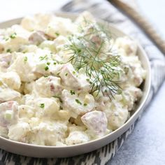 The PERFECT POTATO SALAD. Not too heavy and delightfully creamy, ours is sure to please any crowd this summer! #ourbestbites #potatosalad #sidedishes #bbqsidedishes #bbqsides