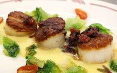 Pan Seared Diver Scallops #CapeCod #Summer2014 #Seafood #Scallops #REALCHICAGO #food #yum thedrakehotel.com/dining