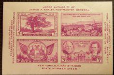 U.S. Scott # 778 1936 TIPEX Souvenir Sheet of 4 Sc#778 MInt/NH -AA++ classic