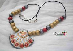 RED GOLD & SILVER Terracotta jewelry Handmade by Varnakala