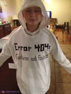 Kids Halloween costumers | Error 404 - Costume Not Found Costume | Beanstalk Mums